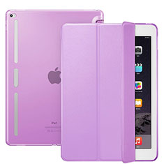 Custodia Portafoglio In Pelle con Stand L02 per Apple iPad Pro 12.9 Viola