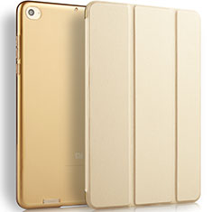 Custodia Portafoglio In Pelle con Stand L02 per Xiaomi Mi Pad 3 Oro