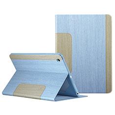 Custodia Portafoglio In Pelle con Stand L03 per Apple iPad Mini 2 Cielo Blu