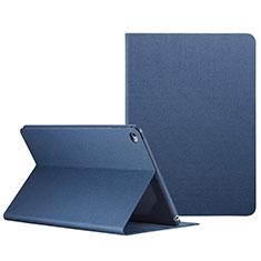Custodia Portafoglio In Pelle con Stand L04 per Apple iPad Mini 4 Blu