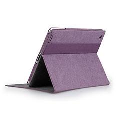 Custodia Portafoglio In Pelle con Stand per Apple iPad 2 Viola