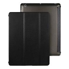 Custodia Portafoglio In Pelle con Stand per Apple iPad 3 Nero