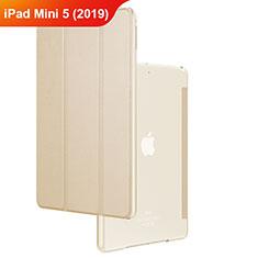 Custodia Portafoglio In Pelle con Stand per Apple iPad Mini 5 (2019) Oro