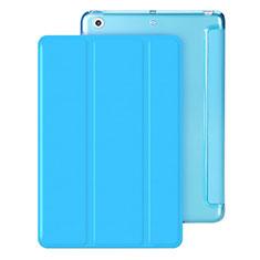 Custodia Portafoglio In Pelle con Stand per Apple iPad Mini Cielo Blu