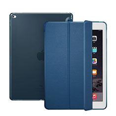 Custodia Portafoglio In Pelle con Stand per Apple iPad Pro 12.9 Blu