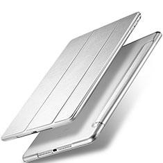 Custodia Portafoglio In Pelle con Stand per Apple New iPad 9.7 (2017) Argento