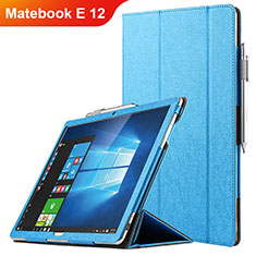Custodia Portafoglio In Pelle con Stand per Huawei Matebook E 12 Blu