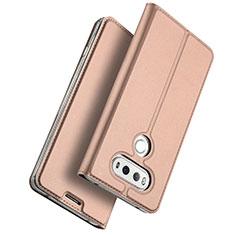 Custodia Portafoglio In Pelle con Stand per LG G6 Oro Rosa