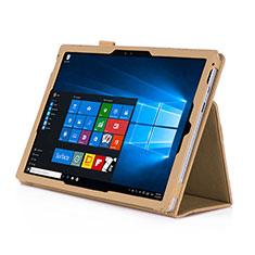 Custodia Portafoglio In Pelle con Stand per Microsoft Surface Pro 4 Oro