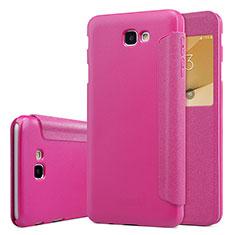 Custodia Portafoglio In Pelle con Stand per Samsung Galaxy J5 Prime G570F Rosa Caldo