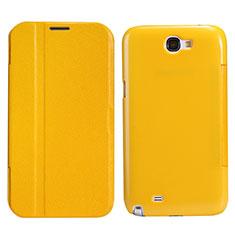 Custodia Portafoglio In Pelle con Stand per Samsung Galaxy Note 2 N7100 N7105 Giallo