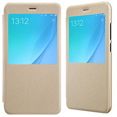Custodia Portafoglio In Pelle con Stand per Xiaomi Mi A1 Oro