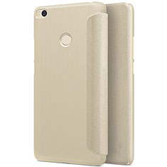 Custodia Portafoglio In Pelle con Stand per Xiaomi Mi Max 2 Oro