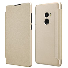 Custodia Portafoglio In Pelle con Stand per Xiaomi Mi Mix Evo Oro