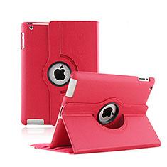 Custodia Portafoglio In Pelle con Stand Rotazione per Apple iPad 2 Rosso