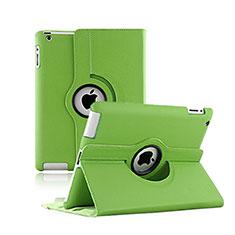 Custodia Portafoglio In Pelle con Stand Rotazione per Apple iPad 2 Verde