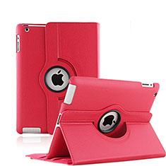 Custodia Portafoglio In Pelle con Stand Rotazione per Apple iPad 3 Rosso