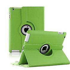 Custodia Portafoglio In Pelle con Stand Rotazione per Apple iPad 3 Verde