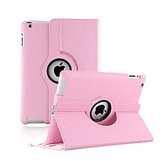 Custodia Portafoglio In Pelle con Supporto Girevole per Apple iPad 2 Rosa