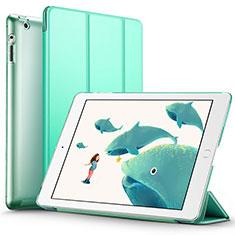 Custodia Portafoglio In Pelle con Supporto L01 per Apple iPad 2 Verde