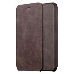 Custodia Portafoglio In Pelle con Supporto L01 per Apple iPhone 6 Plus Marrone