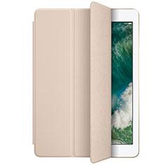 Custodia Portafoglio In Pelle con Supporto L01 per Apple New iPad 9.7 (2017) Oro