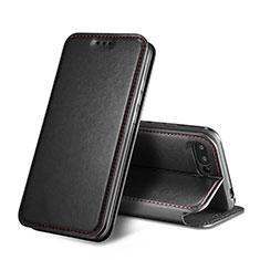 Custodia Portafoglio In Pelle con Supporto L01 per Huawei Honor 10 Nero