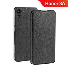 Custodia Portafoglio In Pelle con Supporto L01 per Huawei Honor 8A Nero