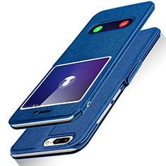 Custodia Portafoglio In Pelle con Supporto L01 per Huawei Honor 9 Lite Blu