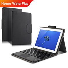 Custodia Portafoglio In Pelle con Supporto L01 per Huawei Honor WaterPlay 10.1 HDN-W09 Nero