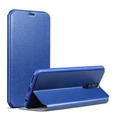 Custodia Portafoglio In Pelle con Supporto L01 per Huawei Mate 10 Lite Blu
