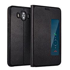 Custodia Portafoglio In Pelle con Supporto L01 per Huawei Mate 10 Nero