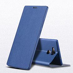 Custodia Portafoglio In Pelle con Supporto L01 per Huawei Mate 8 Blu