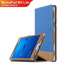 Custodia Portafoglio In Pelle con Supporto L01 per Huawei MediaPad M3 Lite 8.0 CPN-W09 CPN-AL00 Blu