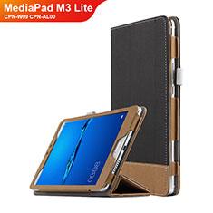 Custodia Portafoglio In Pelle con Supporto L01 per Huawei MediaPad M3 Lite 8.0 CPN-W09 CPN-AL00 Nero