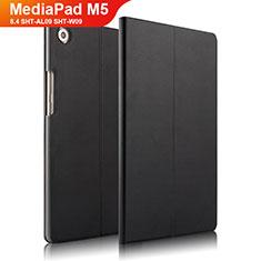 Custodia Portafoglio In Pelle con Supporto L01 per Huawei MediaPad M5 8.4 SHT-AL09 SHT-W09 Nero