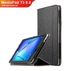 Custodia Portafoglio In Pelle con Supporto L01 per Huawei MediaPad T3 8.0 KOB-W09 KOB-L09 Nero