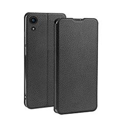 Custodia Portafoglio In Pelle con Supporto L01 per Huawei Y6s Nero