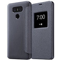 Custodia Portafoglio In Pelle con Supporto L01 per LG G6 Nero