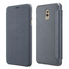 Custodia Portafoglio In Pelle con Supporto L01 per Samsung Galaxy J7 Plus Nero