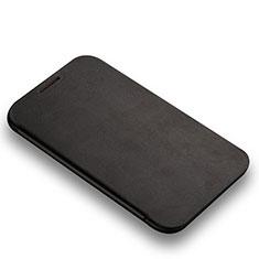 Custodia Portafoglio In Pelle con Supporto L01 per Samsung Galaxy Note 2 N7100 N7105 Nero