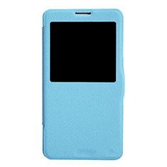 Custodia Portafoglio In Pelle con Supporto L01 per Samsung Galaxy Note 3 N9000 Blu