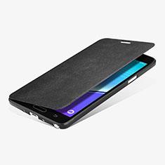 Custodia Portafoglio In Pelle con Supporto L01 per Samsung Galaxy Note 4 SM-N910F Nero