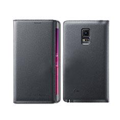 Custodia Portafoglio In Pelle con Supporto L01 per Samsung Galaxy Note Edge SM-N915F Nero
