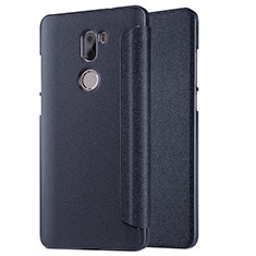 Custodia Portafoglio In Pelle con Supporto L01 per Xiaomi Mi 5S Plus Nero