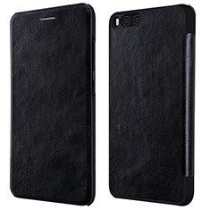 Custodia Portafoglio In Pelle con Supporto L01 per Xiaomi Mi 6 Nero