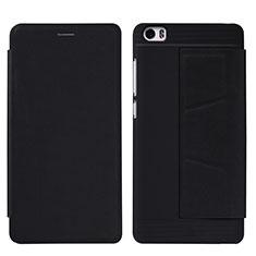 Custodia Portafoglio In Pelle con Supporto L01 per Xiaomi Mi Note Nero