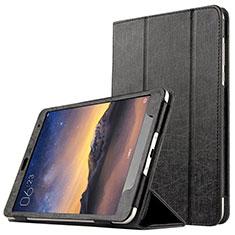 Custodia Portafoglio In Pelle con Supporto L01 per Xiaomi Mi Pad 3 Nero