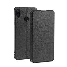 Custodia Portafoglio In Pelle con Supporto L01 per Xiaomi Redmi 7 Nero