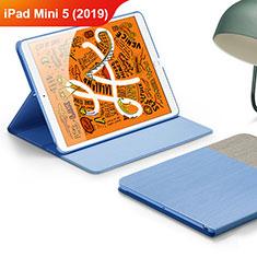 Custodia Portafoglio In Pelle con Supporto L02 per Apple iPad Mini 5 (2019) Cielo Blu